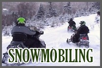 Snowmobiling on northern New Hampshire